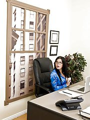 Busty Rebeca Linares is a sexy boss that loves to fuck in the office
