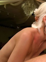 Blond MILF Kacey Villainess gets her shaved pussy fucked nicely