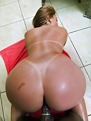 Brazilian MILF slurps on a cock and takes it in her ass near the pool