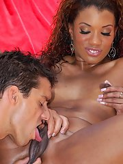 Black MILF Sydnee Capri gets her brown pussy licked and boned