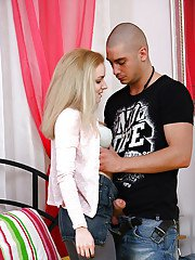 Young little Pamela E sucks dick gets railed amp covered in warm jizz