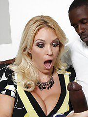 Filthy MILF Charlee Chase gets her cunt filled by a black big cock