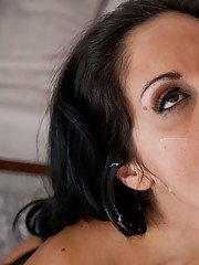 Busty brunette MILF in stockings Ava Addams seduces a younger man