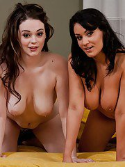 Horny busty babes Charley Chase & Tessa Lane have some lesbian fun