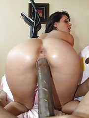 Slutty latina babe with big jugs Charley Chase fucking a monstrous cock