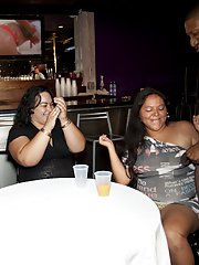 Cock hungry party girls having fun with a black malestripper