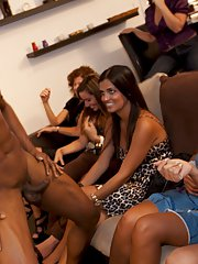 Stunning chicks going nuts at the CFNM bachelorette party