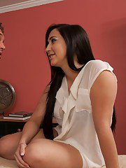 Busty latina babe Valerie Kay gives a blowjob and gets fucked hardcore