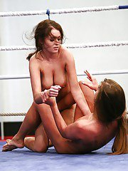 Nelly Sullivan gets her pussy pleased by Chaty Heaven after a catfight