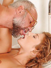 Amazingly lovely teen babe gets banged hardcore by an older doctor