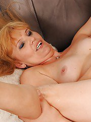 Lusty mature lady with small tits gets her pussy licked and nailed