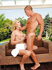 Smoking hot MILF with big jugs Tanya Tate gets fucked by the pool