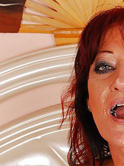 Redhead mature lady gets her asshole fingered and fucked hardcore