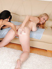 Horny MILF is into lesbian action with her younger friend Izabella De Cruz