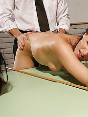 Submissive schoolgirls get punished and fucked hardcore by teachers