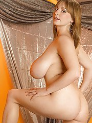 Big busted babe Christy Marks stripping and toying her hairy slit
