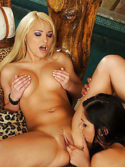 Adorable babes with gorgeous bodies are into lesbian action with toys
