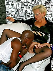 Hot MILFs Cindy Dollar  Eliss Fire are into interracial hardcore groupsex
