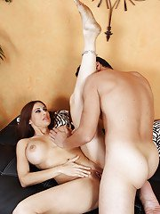 Hot indian babe with big tits Sheila Marie gets her pussy nailed hardcore