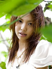 Sweet asian babe Yura Aikawa uncovering her petite curves