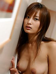 Graceful asian babe with hot ass Ryoko Mitake slipping off her clothes