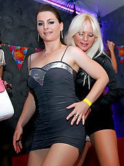 Lascivious babes with petite bodies going wild at the sex party
