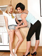 Naughty teen Paris Diamond is into lesbian sex with her older friend