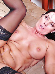 Mature vixen in stockings Magdalene St. Michaels gets drilled hardcore