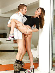 Sexy brunette with hot ass and long legs Tori Black gets nailed hardcore