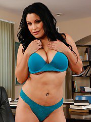 Curvy latina teacher Sophia Lomeli stripping and fingering her cunt