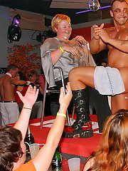 Lascivious gals getting fucked by malestrippers at the party