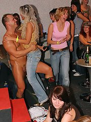Naughty amateur gals are into wild groupsex with malestrippers