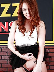 Redhead teenage hottie Maddy Oreilly stripping off her clothes