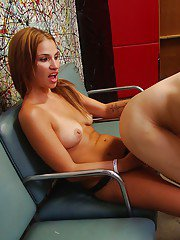 Seductive mature lady Sindy Rose has some strapon fun with a kinky guy