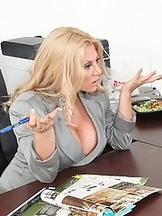 Bosomy MILF Charity Mclain gets drilled hardcore in the office