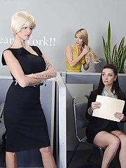Hot office gals Taylor Vixen  Jayden Cole stripping and caressing each other