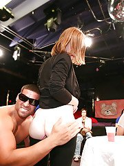 Sexy ladies have fun with horny male stripper at the CFNM party