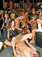 Salacious sluts with stupendous bodie getting down at the wild sex party