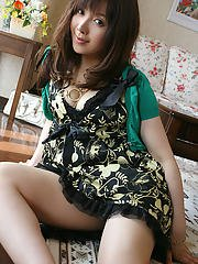 Smiley asian girl flashing her petite titties and sweet fanny outdoor