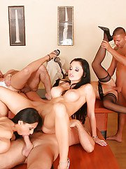 Lecherous sluts have a wild groupsex with their office-mates