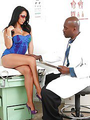 Busty MILF Isis Love has some hardcore fun with a well-hung black doctor
