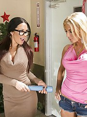 Kirsten Price  Alicia Secrets have some lesbian fun in the classroom