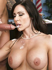 Hot MILF in stockings Kendra Lust gets her pussy licked and nailed hardcore