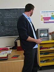 Sultry teacher in stockings Francesca Le gets fucked in the classroom