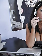Angela Aspen gets fucked and facialized by her studly office mate