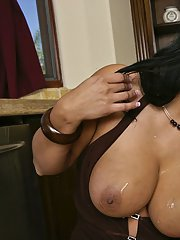 Lecherous MILFs share a big hard cock and enjoy cum swapping