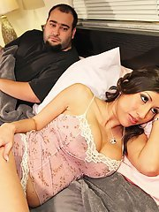 Promiscuous wife Alexis Breeze cheating her hubby with a studly lad