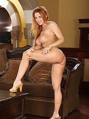 Well-toned MILF with big tits Janet Mason gets rid of her dress and lingerie