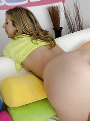 Bottomless teenage blonde Chastity Lynn showcasing her neat fanny
