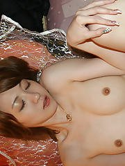 Lovely asian doll with tiny tits gets her hairy pussy shagged hardcore